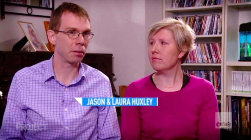 Jason and Laura on The Project