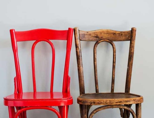 Chair in red